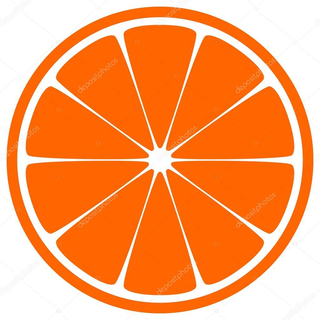橙色切片 — 图库矢量图像08