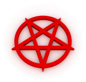 Red Converse Pentagram — Stock Photo