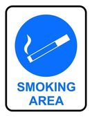 Smoking Area Sign — Stock Vector