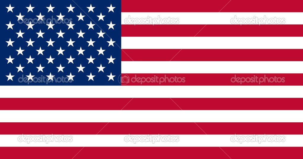 United States of America flag, all proportions and colors accurate as standard — Stock Vector #2571545