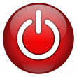 Red Power Button — Stockfoto