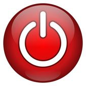 Red Power Button — Stock Photo