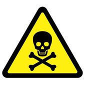 Deadly Danger Sign — Stock Vector
