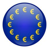 European Union Button — Stock Photo