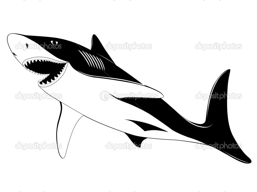 Shark tattoo stock vector 169 flanker d 2203657