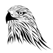 Hawk, tattoo — Stock Vector