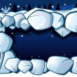 Royalty-Free Stock Vector Image: Snowman and a snow cave