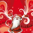 Santa Claus brings joy - Stock Vector