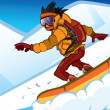 Snowboarder - Stock Vector