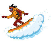 Snowboarder isolation — Stock Vector
