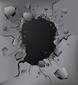 Crash wall — Stock Vector