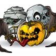 Royalty-Free Stock Vectorielle: Halloween Monsters_isolation