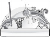 Basketball banner gray — Stock Vector