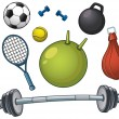 Sports equipment - Vettoriali Stock