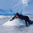 Diver on the ice — Stock Photo #1992335