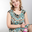 Portrait of the smiling girl — Stock Photo