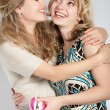Stock Photo: Portraits of two beautiful girls