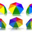 Rainbow umbrellas — Stock Photo #1828423