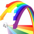 Rainbow arrows - Stock Photo