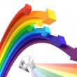 Rainbow arrows — Stock Photo #1828950