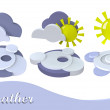 Weather symbol sun, cloud — Stock Photo