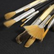 Stock Photo: Set of art brushes