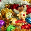 Foto de Stock  : Multi-coloured tinsel and Christmas