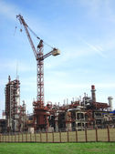 Fábrica de productos químicos — Foto de Stock