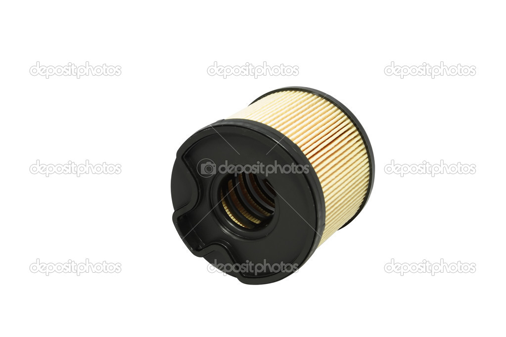 The automobile fuel filter located on the isolated white background — Stock Photo #1470724