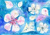 Swimming blossom — Stock Photo