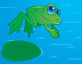 Diving Frog — Stock Vector
