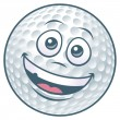 Royalty-Free Stock Vector Image: Cartoon Golf Ball Character