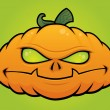 Pumpkin Monster Jack O Lantern — Stock Vector