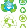 Stock Vector: Recycle Symbols