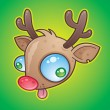 Stock Vector: Rudolph Red Nosed Reindeer