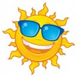 Royalty-Free Stock Vector Image: Summer Sun Wearing Sunglasses