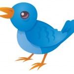 fågel blå tweeting — Stockvektor