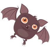 Cartoon Vampire Bat — Stock Vector