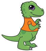 Baby Tyrannosaurus Rex Dinosaur — Stock Vector