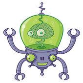 Brainbot Robot With Brain — Stock Vector