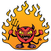 Fat Devil Cartoon — Stock Vector