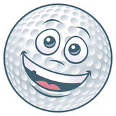 Cartoon Golf Ball Character — Stock Vector