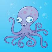 Silly Octopus Cartoon — Stock Vector