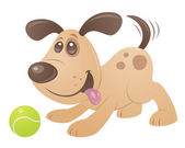 Playful Puppy — Stock Vector