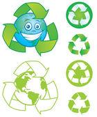 Recycle Symbols — Stock Vector