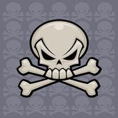 Skull And Crossbones — Stock Vector
