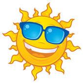 Summer Sun Wearing Sunglasses — Stock Vector