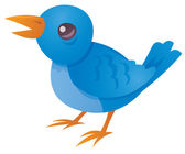 Blue Bird Tweeting — Stock Vector