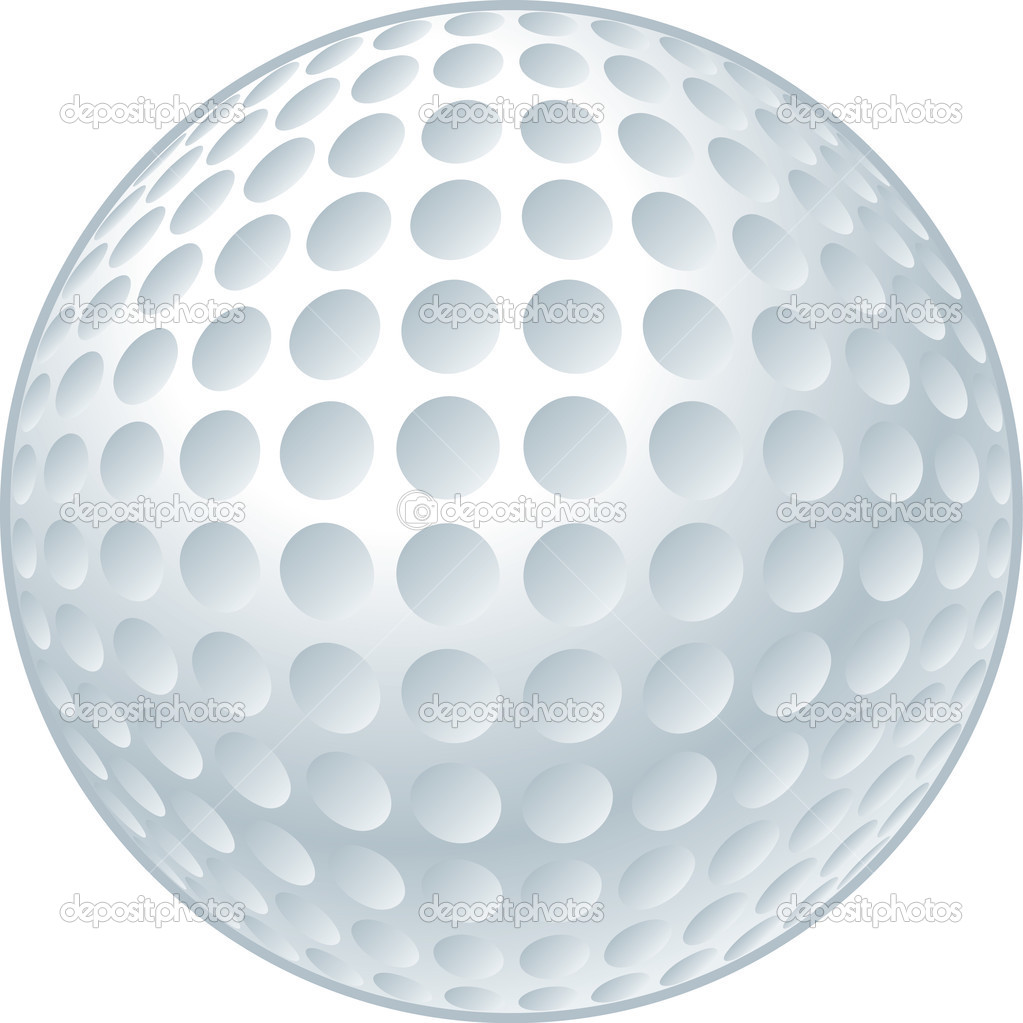 Vector illustration of a golf ball.  — Stock Vector #1507444