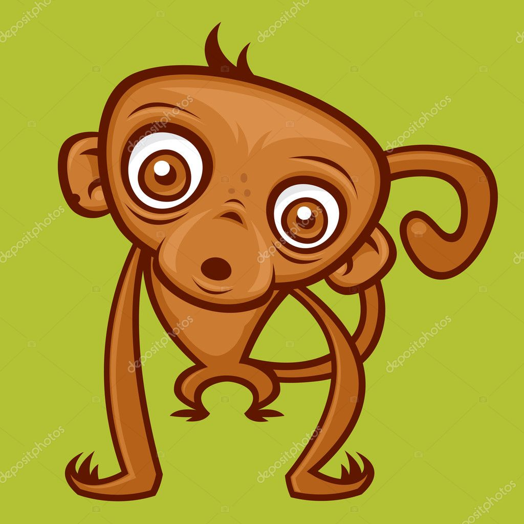 Vector cartoon monkey illustration.  — Stock Vector #1507458